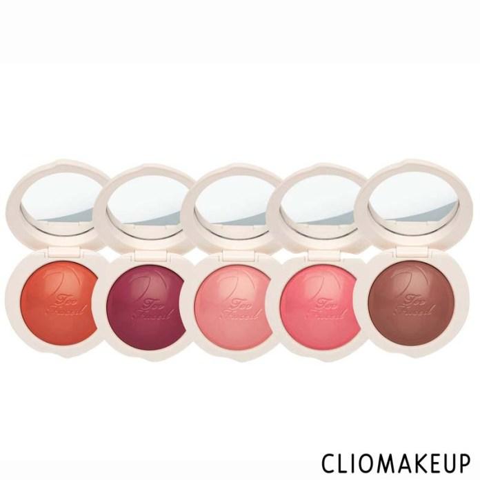 cliomakeup-recensione-blush-too faced-peach-my-cheeks-melting-powder-blush-3