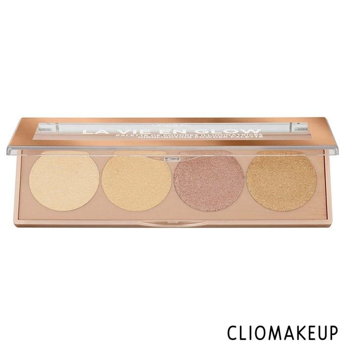 cliomakeup-recensione-illuminanti-l'oréal-la-vie-en-glow-highlighting-powder-palette-1