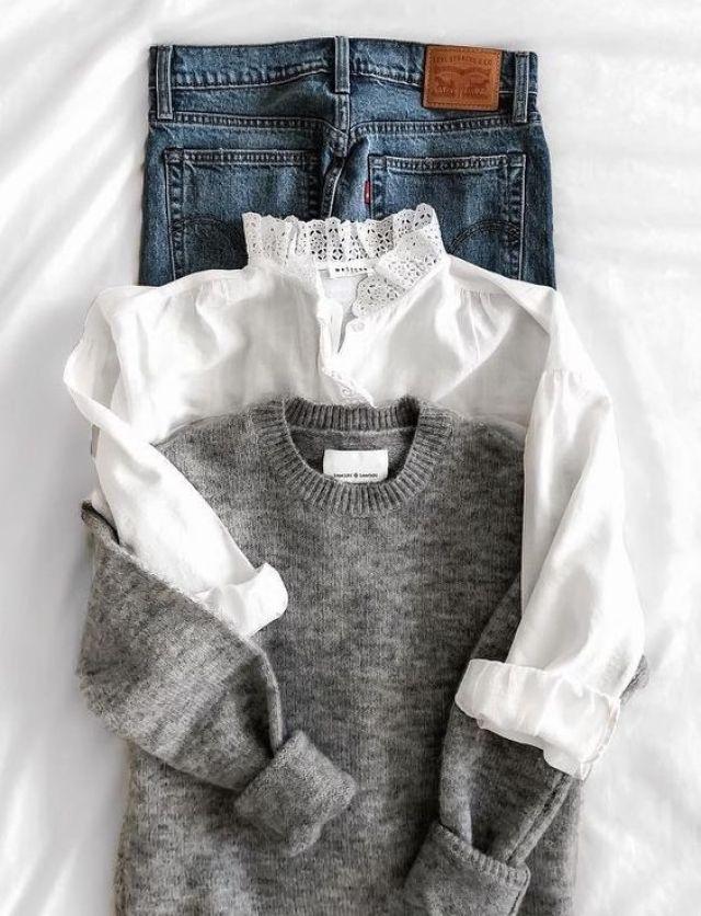 cliomakeup-capsule-wardrobe-jeans-camicia-maglione