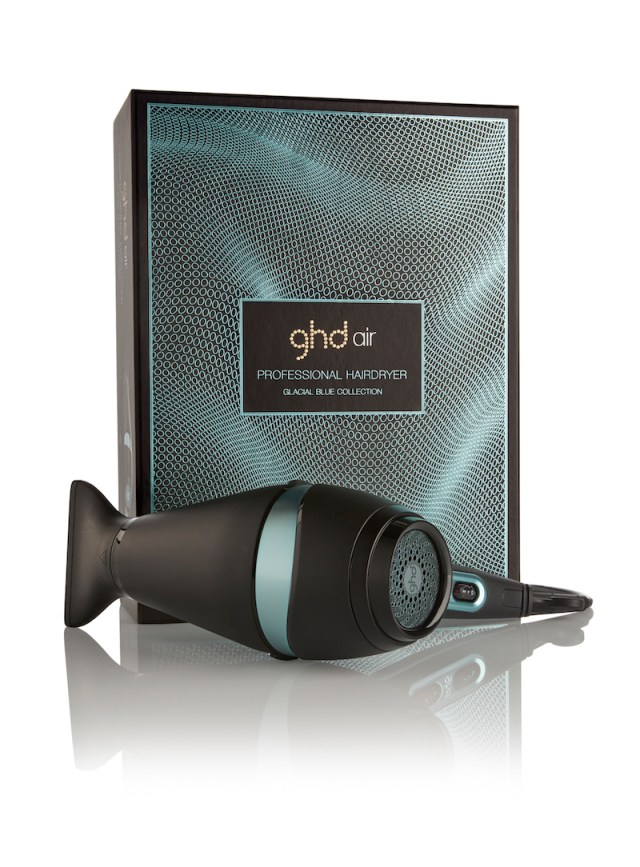 cliomakeup-ghd-xmas-set-natale-glacial-blue-hair-dryer-box