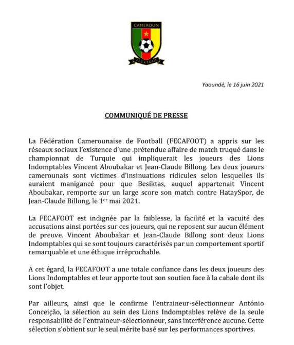Cameroon statement