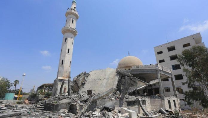 Image of the mosque after the terrorist Houthi attack