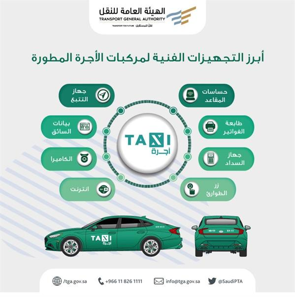 The most prominent technical equipment for developed taxis