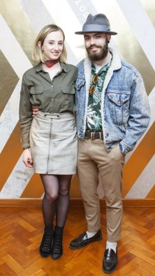 Niamh O'Donoghue and Jake McCabe at the launch of the Vodafone Smart Platinum 7 #TakeACloserLook Collection with Humans of Dublin at Drury Buildings Dublin. Pic:Brian McEvoy Photography