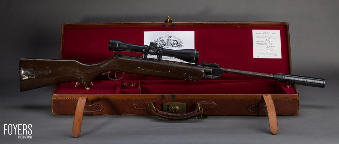 air rifle on gun case-5 - copyright Robert Foyers