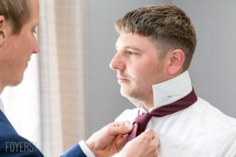 Alex getting ready for his wedding