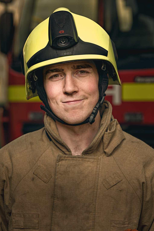 Firefighter Jason Naylor-Richards, works at Sizewell B