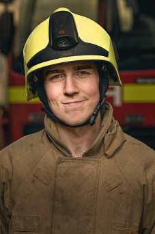 Firefighter Jason Naylor-Richards, works at Sizewell B