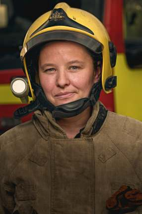 Firefighter Tania Robinson, Full time mum