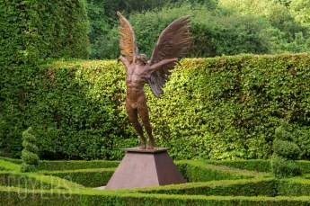 Dare to Dream is the figurehead of the Icarus series, balancing 0.75 tons of bronze on his tip-toes.
