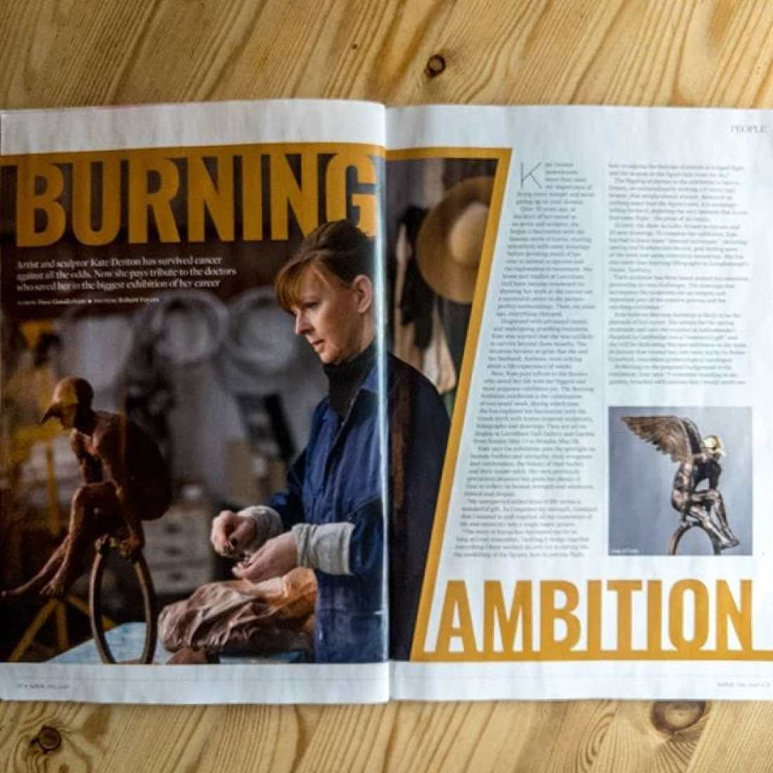 Love seeing my photography in print! Great article about Kate Denton in the latest Suffolk magazine. @kate_denton_sculpture @suffolkmag
