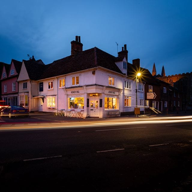 """Shoot of """"Honey Hill Cafe"""" at Clare, Suffolk,"""