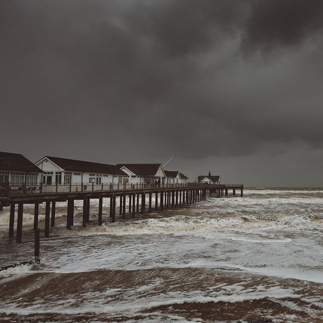 A rather windy day down at Southwold pier