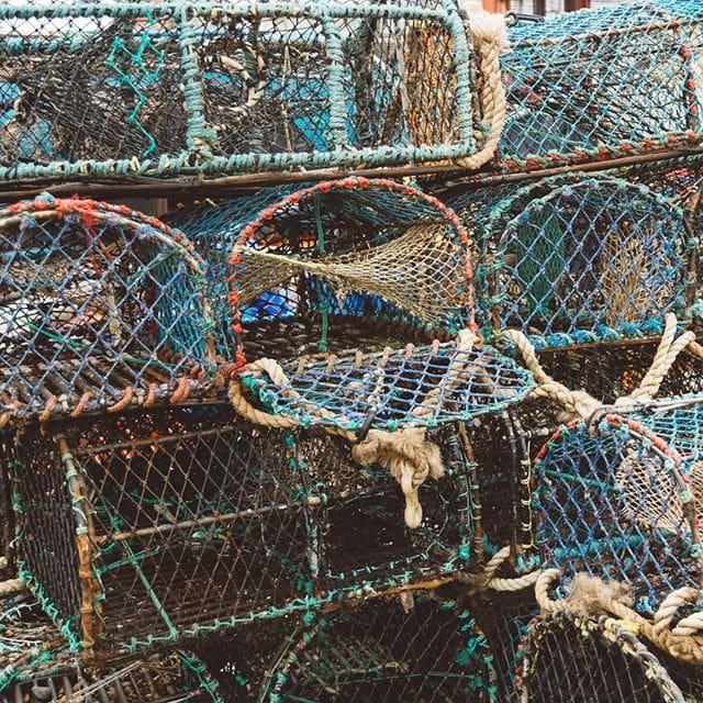 lobster pots - Aldeburgh . . . .