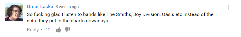 A typical YouTube comment.