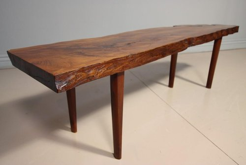 1950's solid yew wood coffee table , made by Reynolds of Ludlow ...