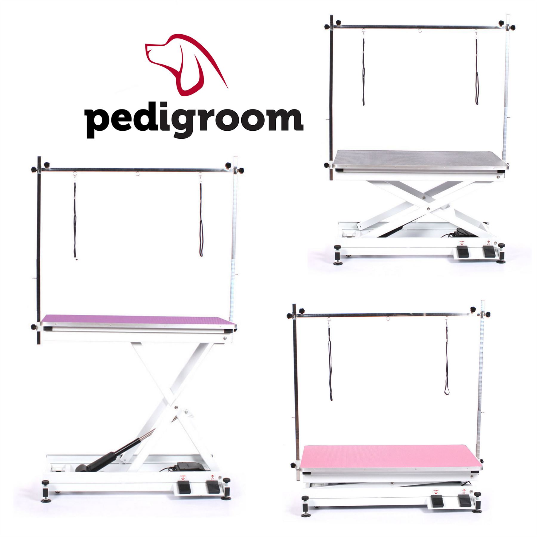 Dog Grooming Table Electric With H Frame Bar By Pedigroom