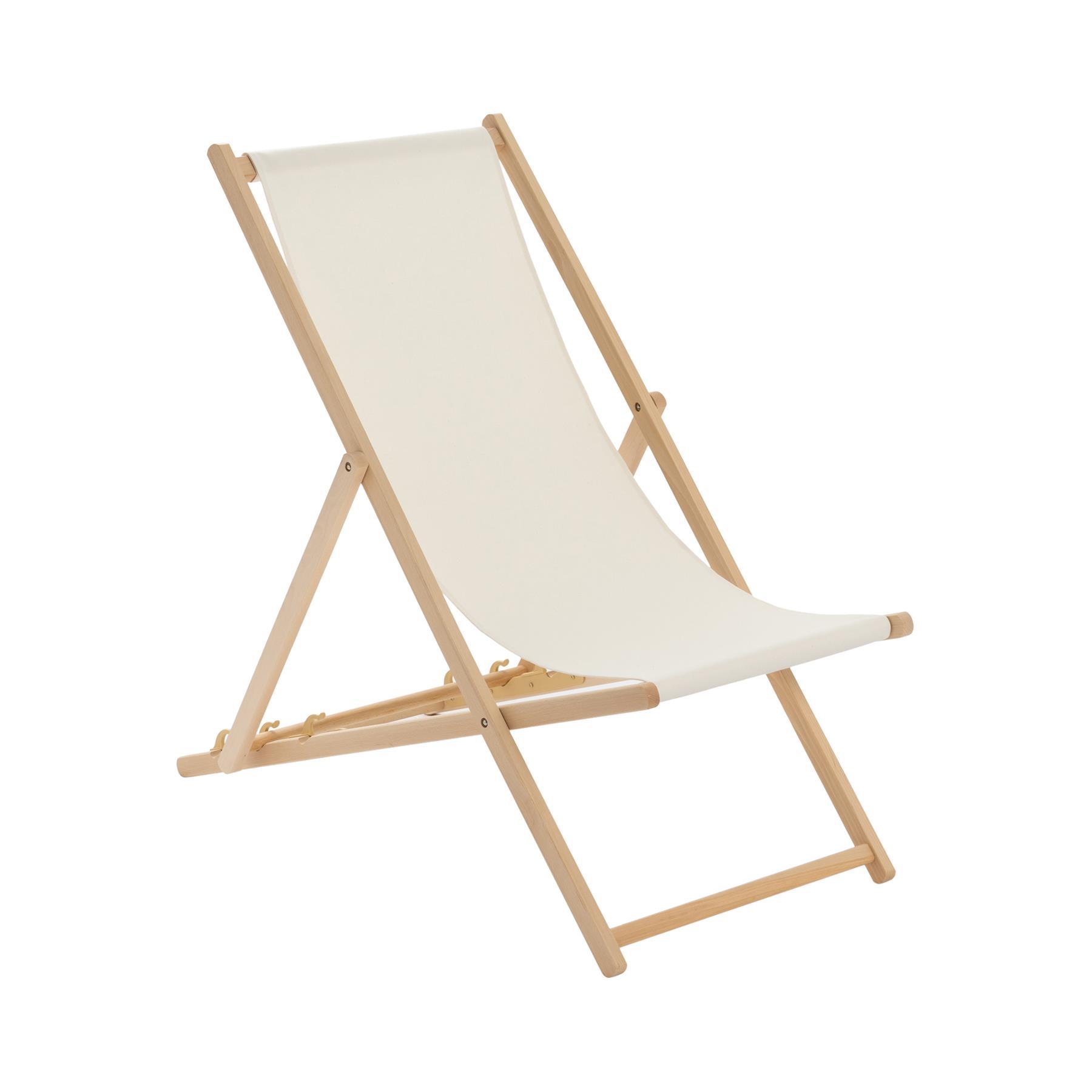 details sur chaise longue classique pliante en bois jardin plage mer chaise longue creme