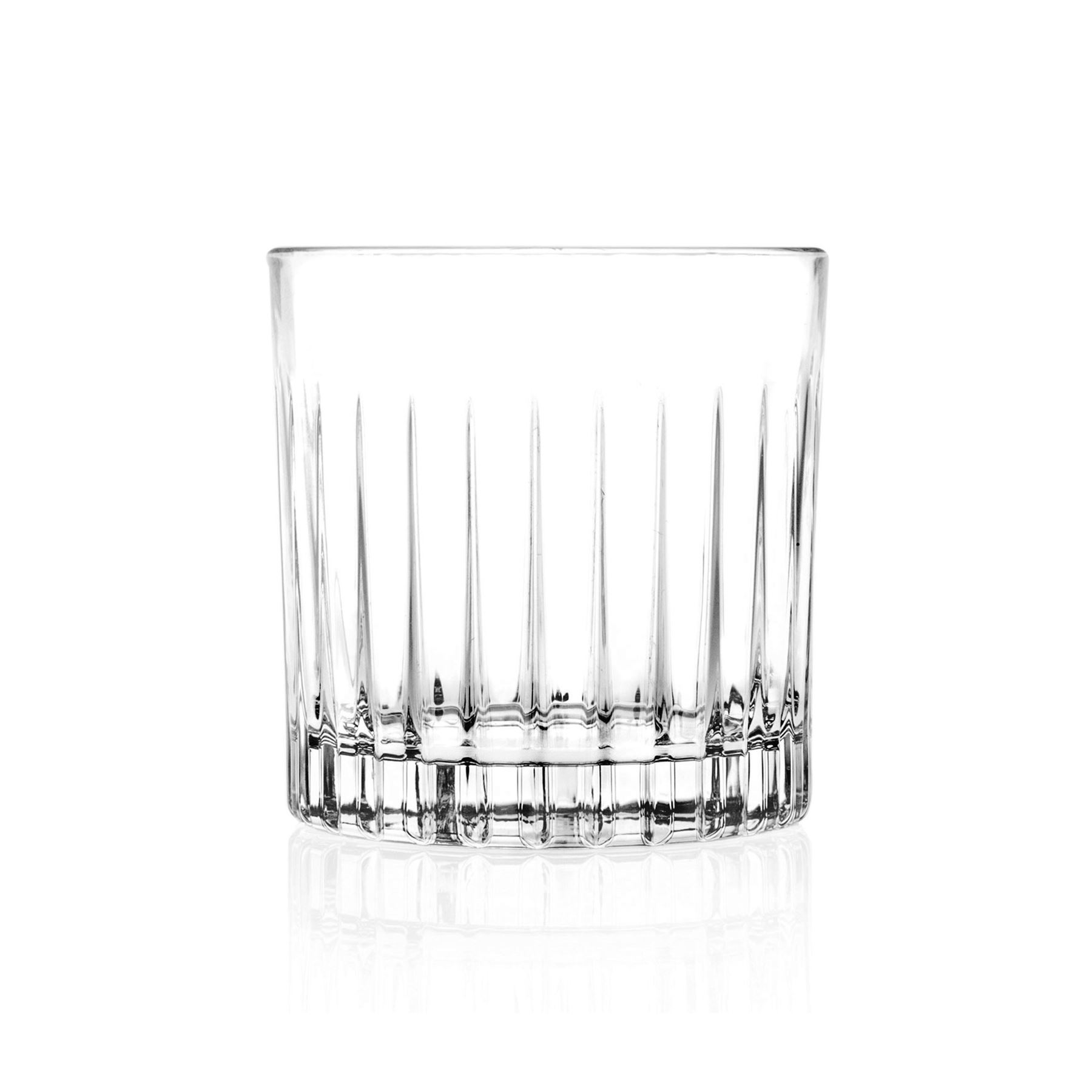 4x Mixology Cut Glass Double Old Fashioned Whisky Tumblers