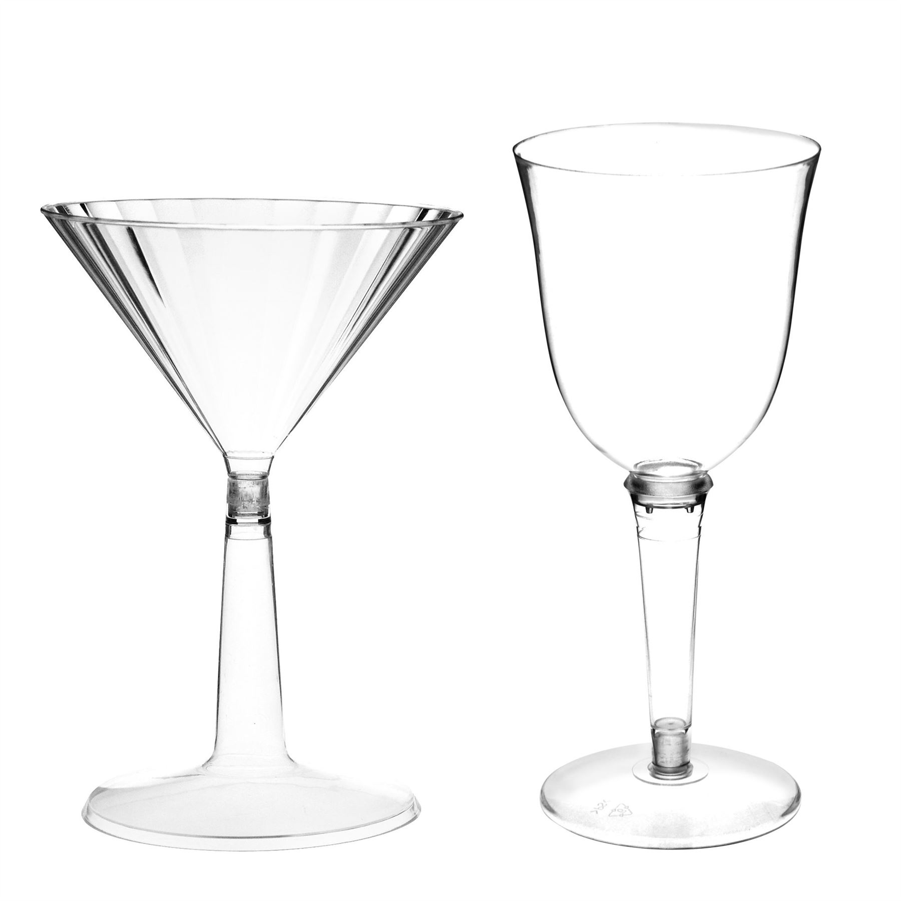 Plastic Cocktail Glasses And Red White Outdoor Wine