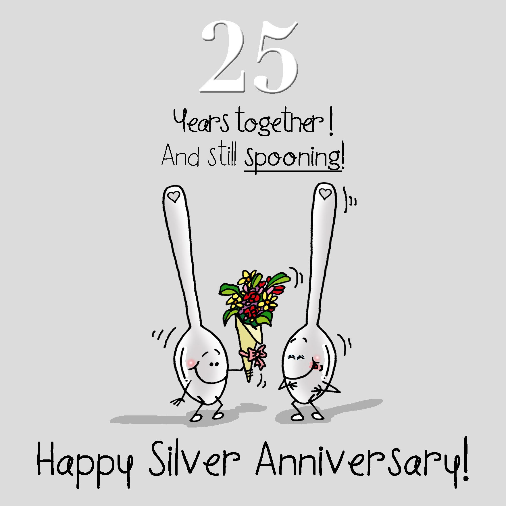 25th Anniversary Greetings Card