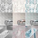 Elixir Geometric Marble Wallpaper Grey Rose Gold Teal Silver Metallic Muriva Ebay