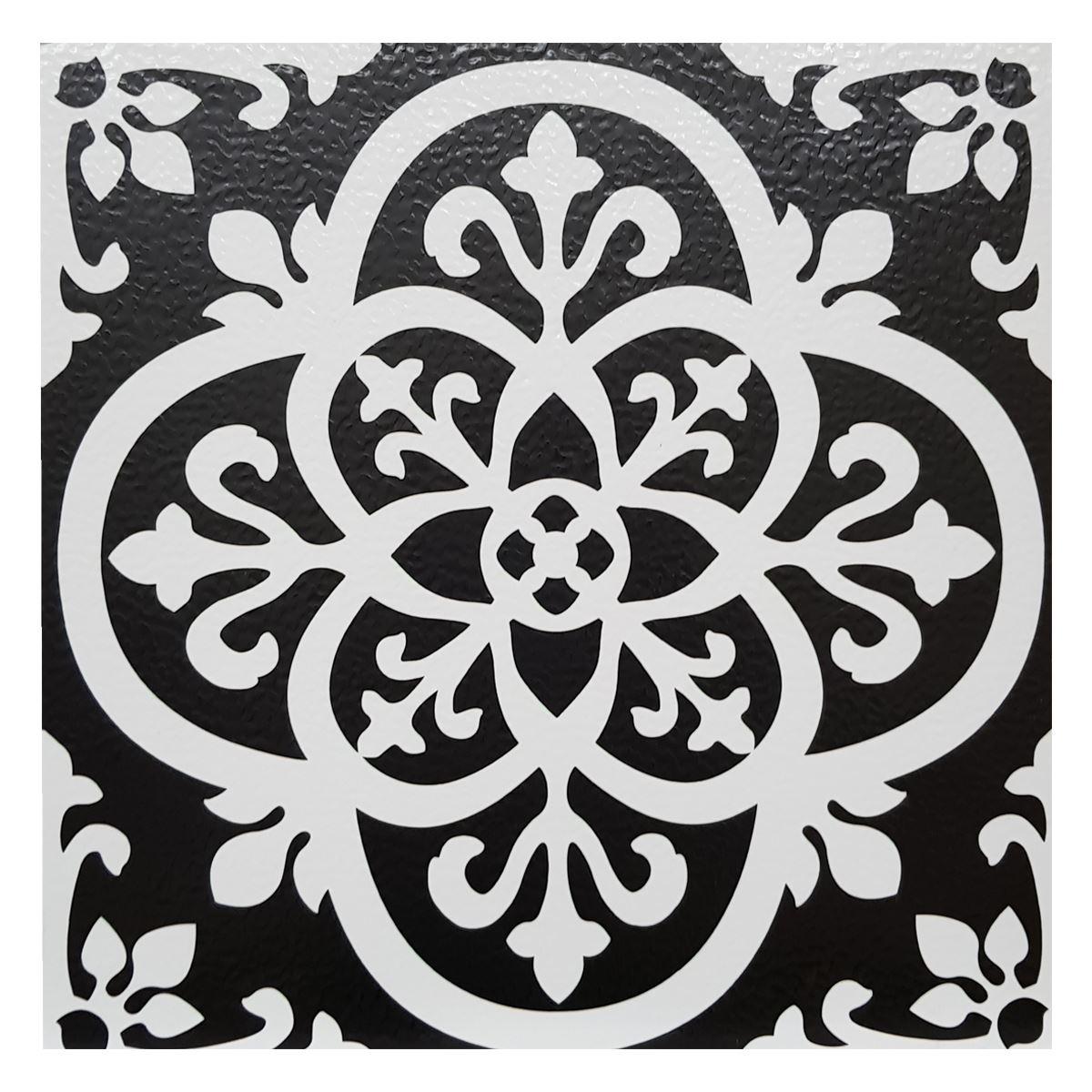 10 peel stick vinyl floor tiles black