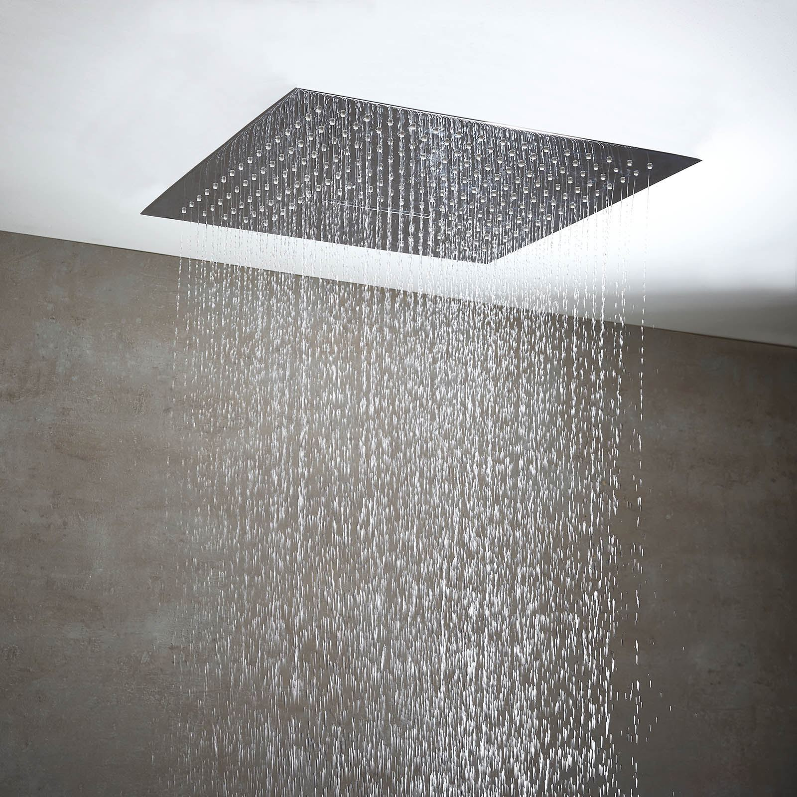 Details About 500mm Square Luxury Ceiling Mounted Shower Head Waterfall 3 Settings