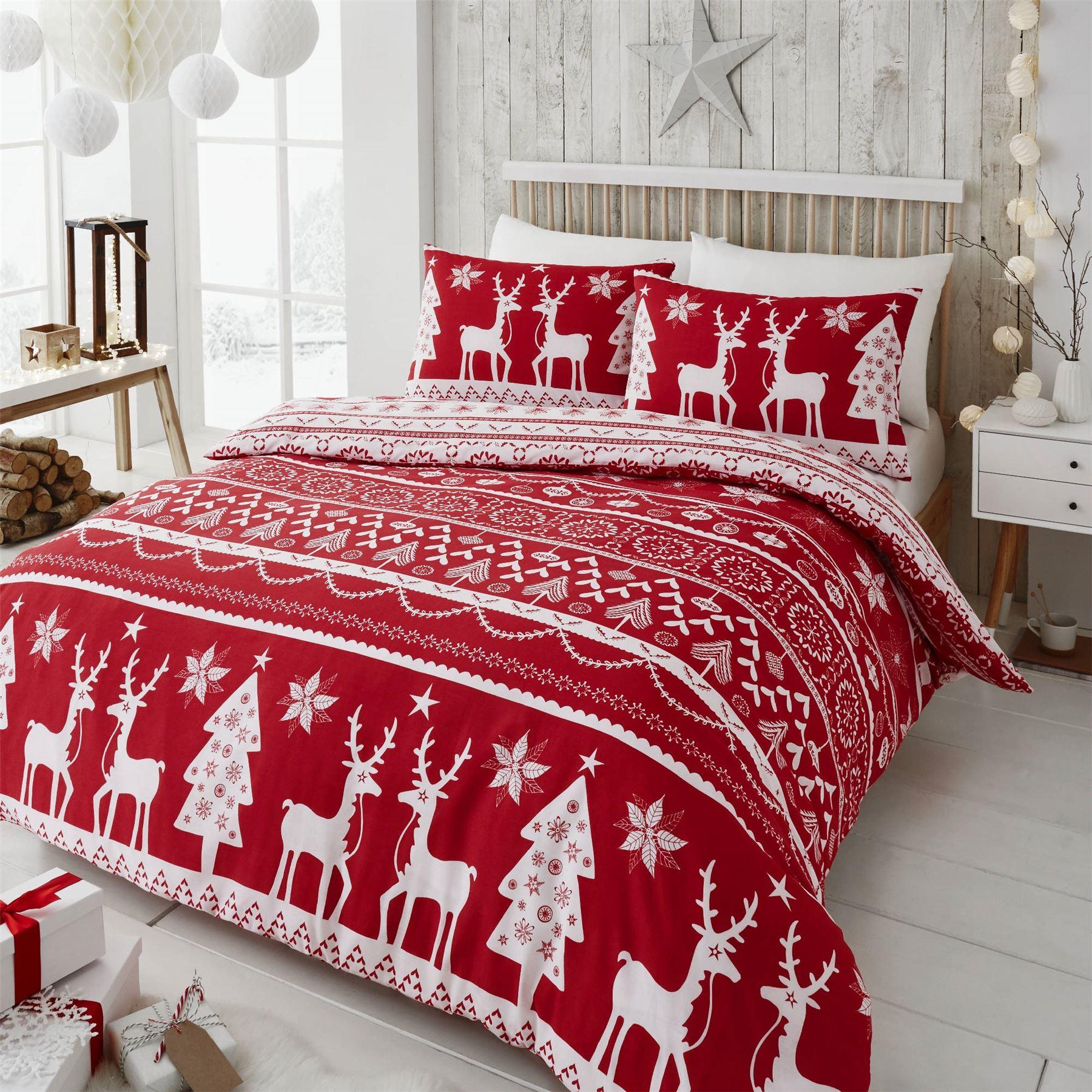 Happy Linen Co Festive Scandi Nordic Christmas Duvet Quilt Cover Bedding Set EBay