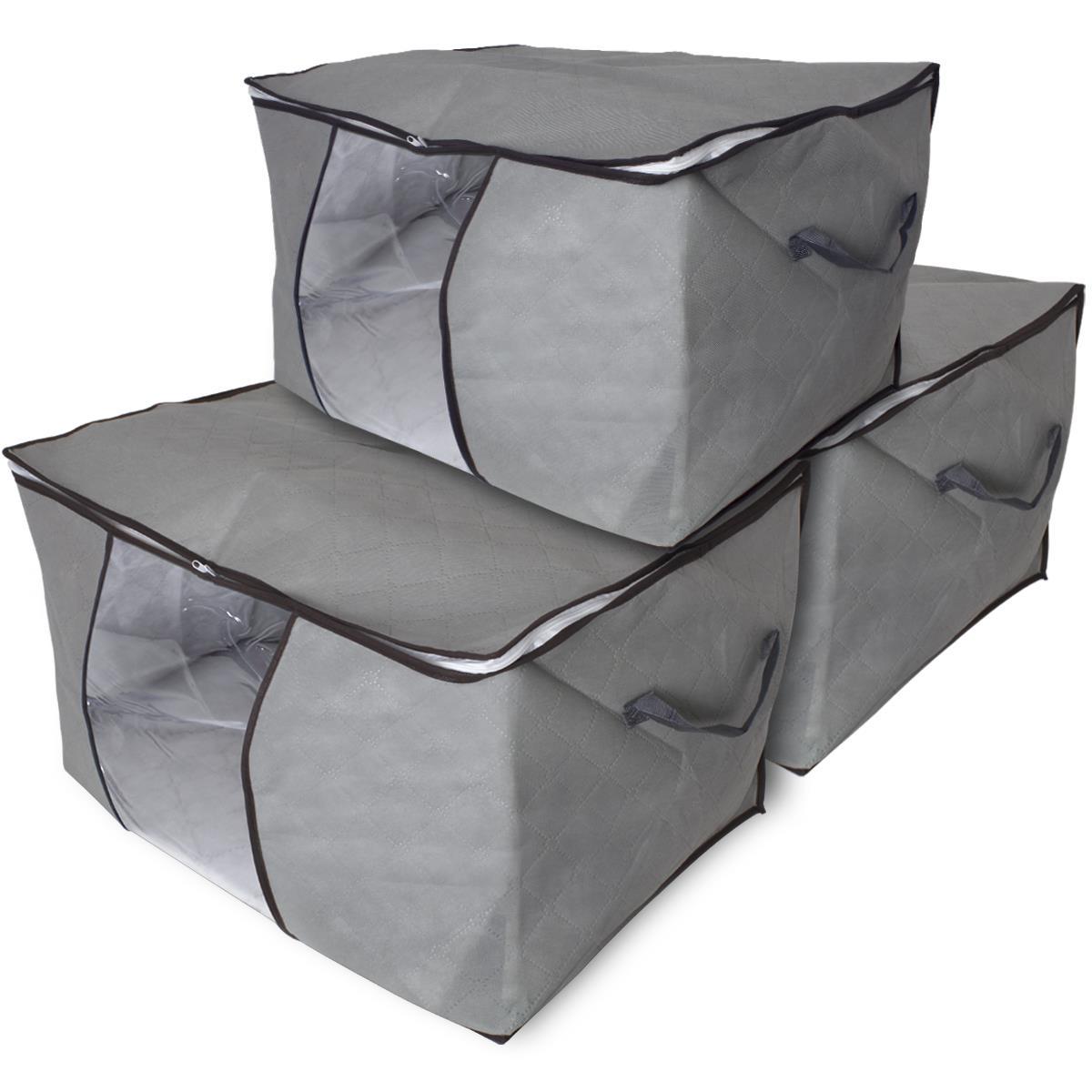 details sur sac rangement sous lit pliable tissu boite stockage caisses couette vetements