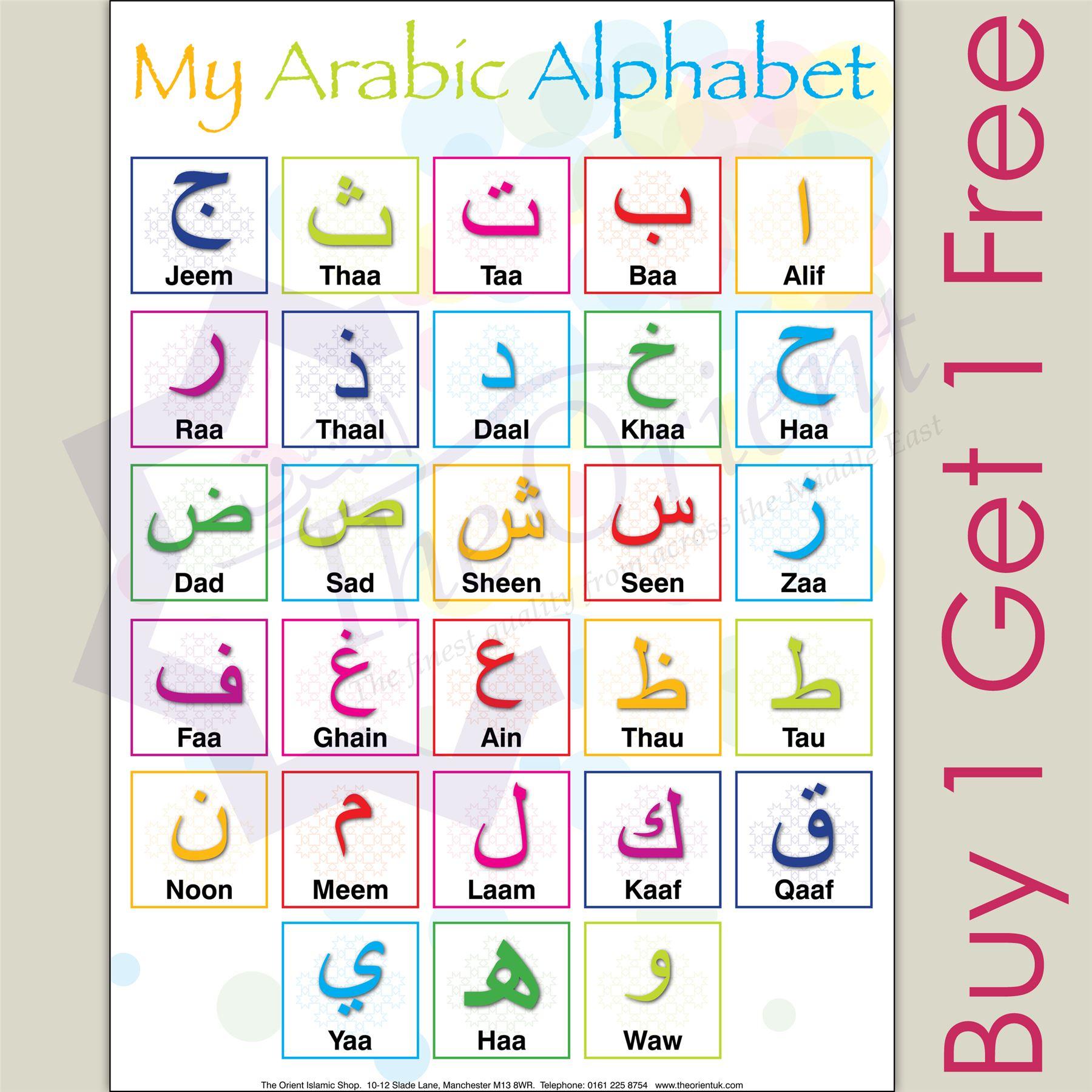 My Arabic Alphabet A3 Learning Poster Teaching Arabic