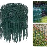 Strong Green Pvc Coated Wire Fencing For Boundaries And Edging Flower Beds 10m X 0 25m Decorative Hoop Top Garden Border Fence Decorative Fences