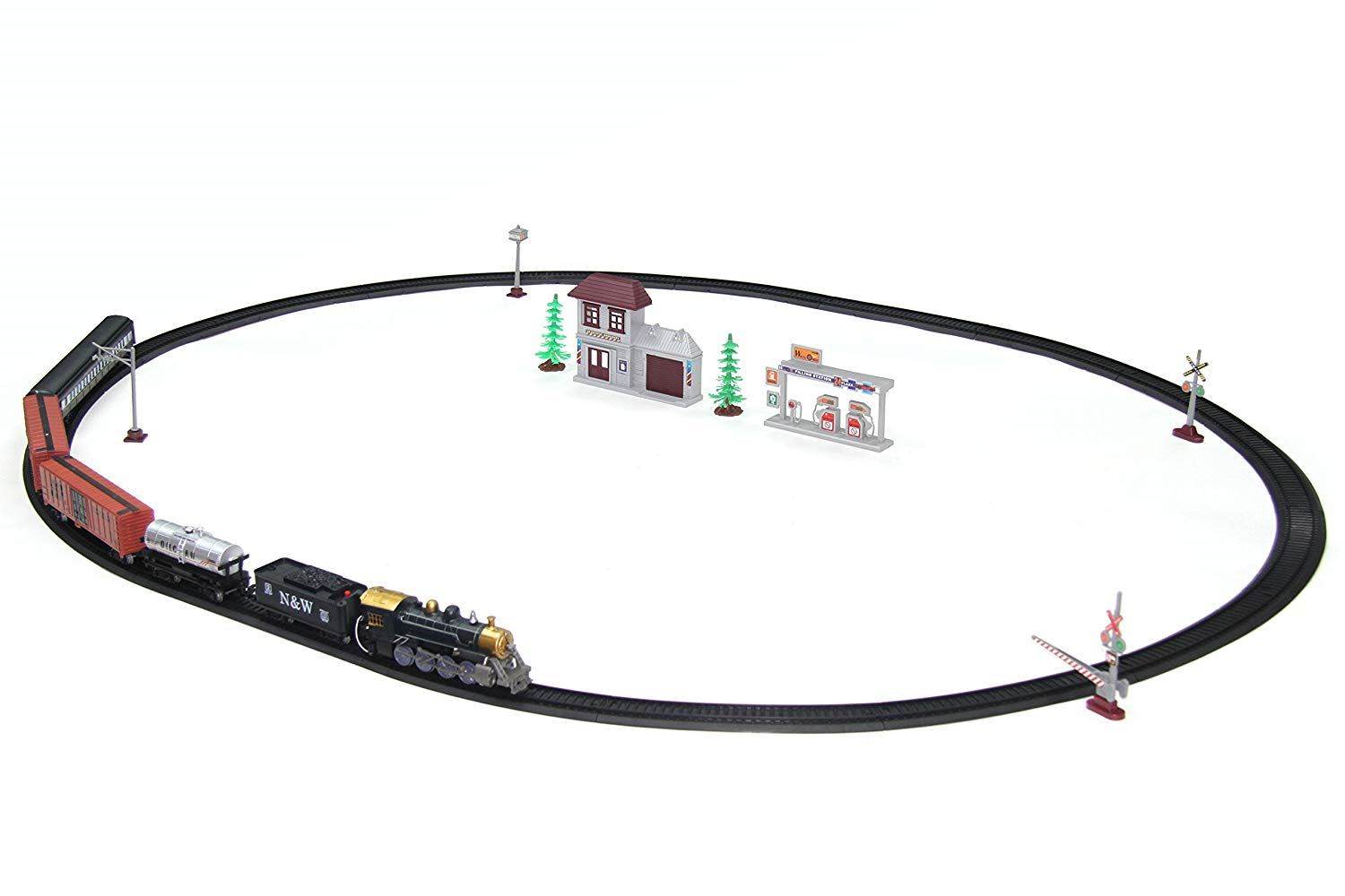 Christmas Train Set With Realistic Sound And 3 Cargo