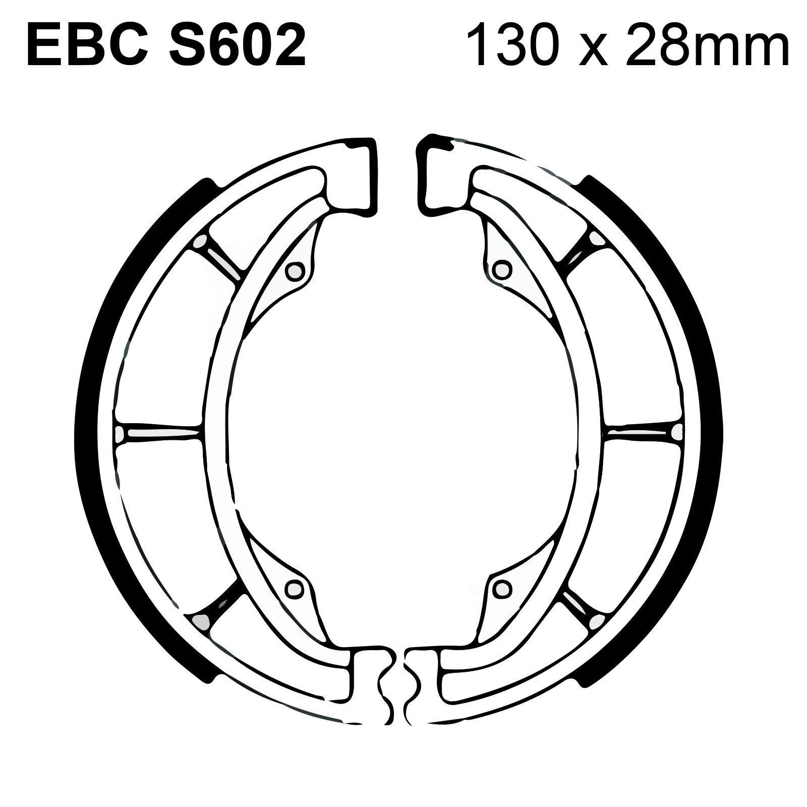 Ebc Organic Brake Shoes Amp Spring Kit S602 Kawasaki Bn 125