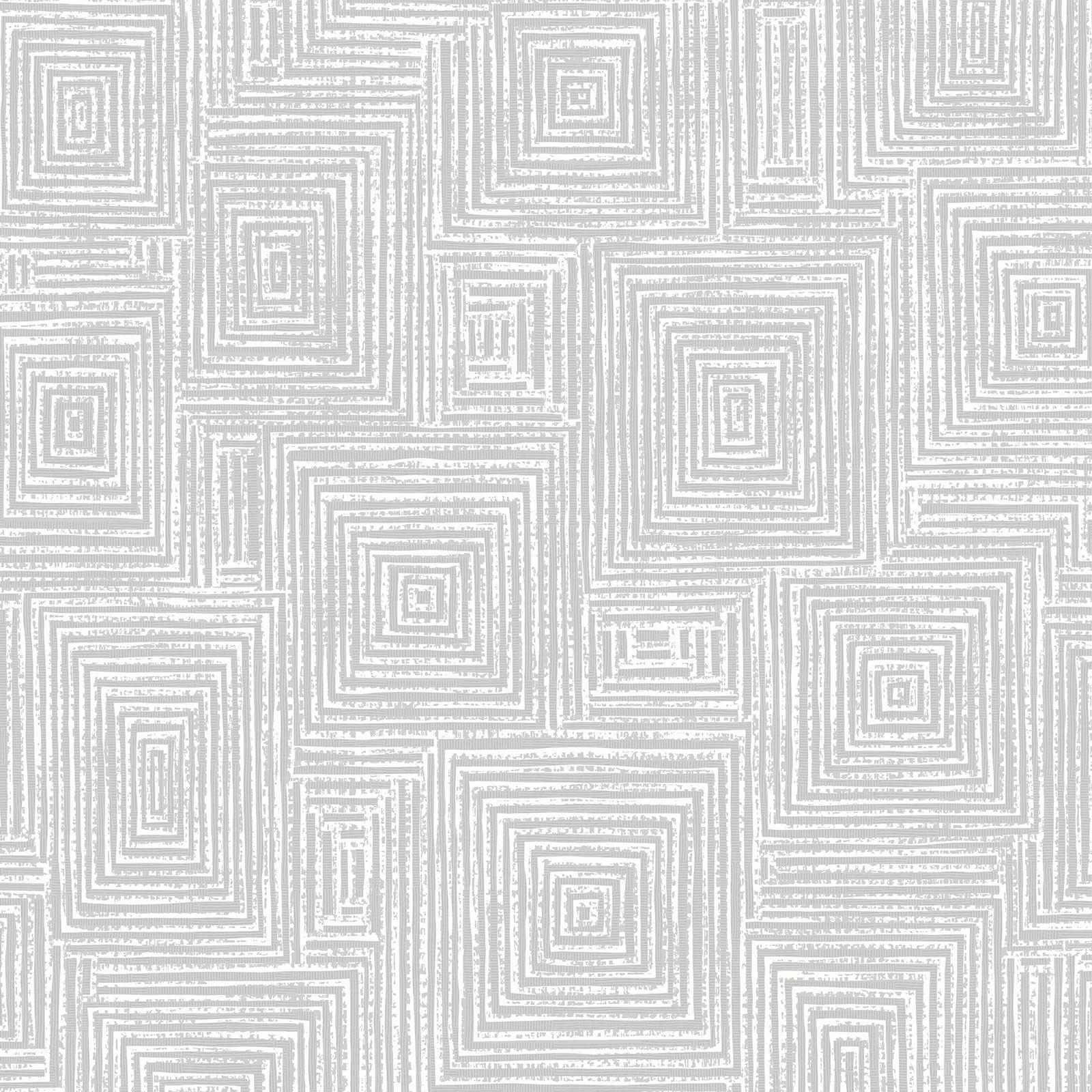 Symmentry Geo Quadrate Tapete Wei Silber