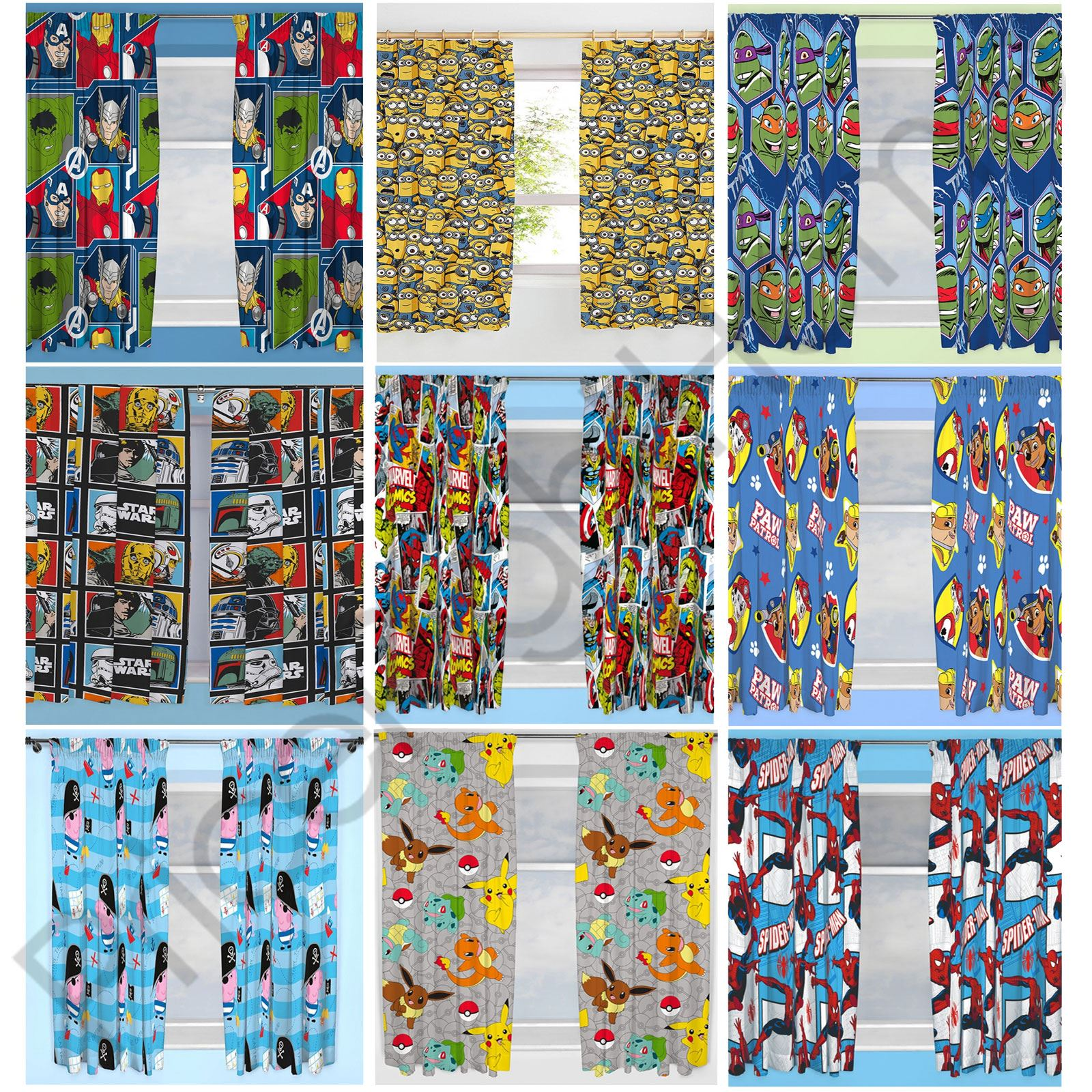 Disney Amp Character Boys Curtains Bedroom Marvel Paw Patrol