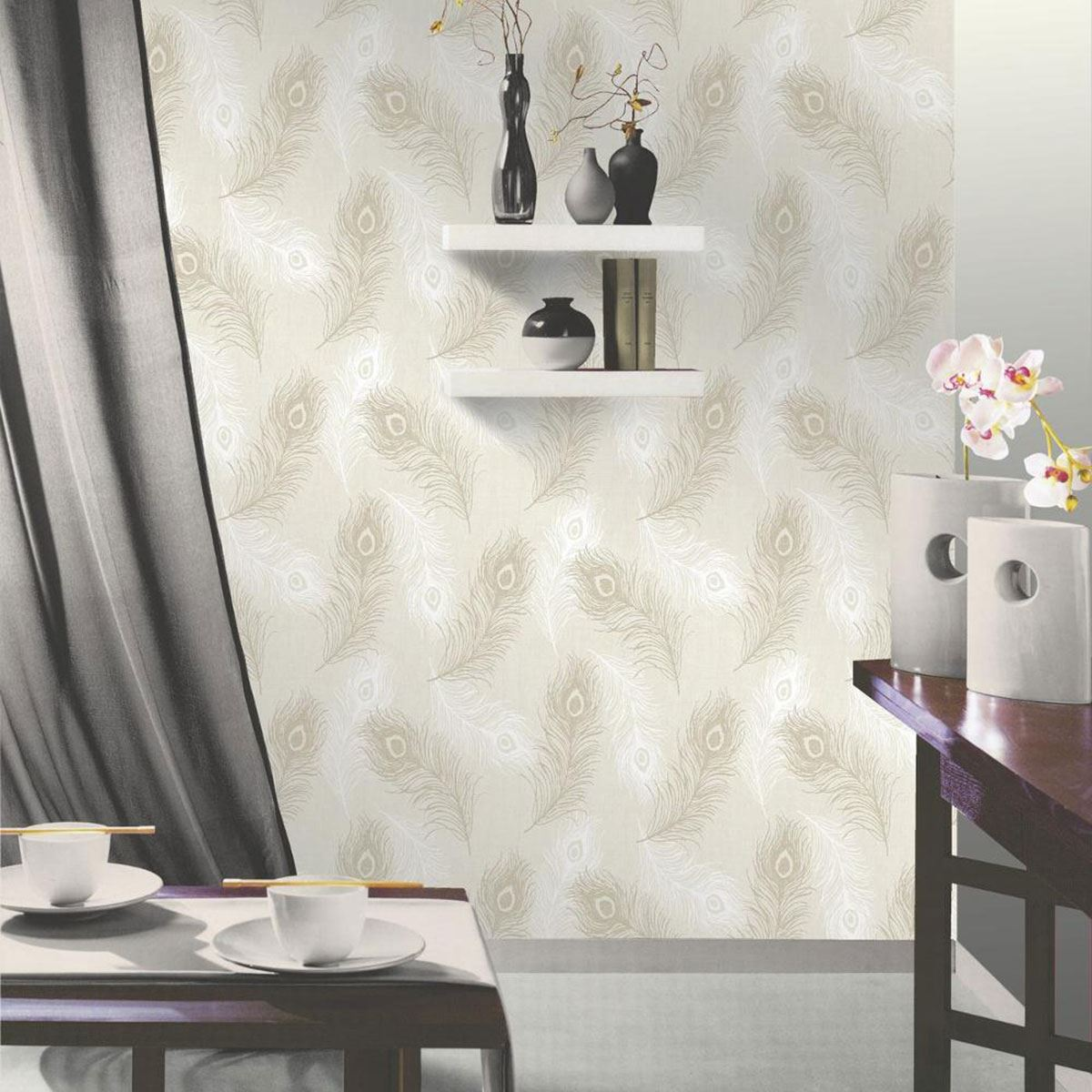 SHABBY CHIC FLORAL WALLPAPER IN VARIOUS DESIGNS WALL DECOR NEW FREE     SHABBY CHIC FLORAL WALLPAPER IN VARIOUS DESIGNS WALL