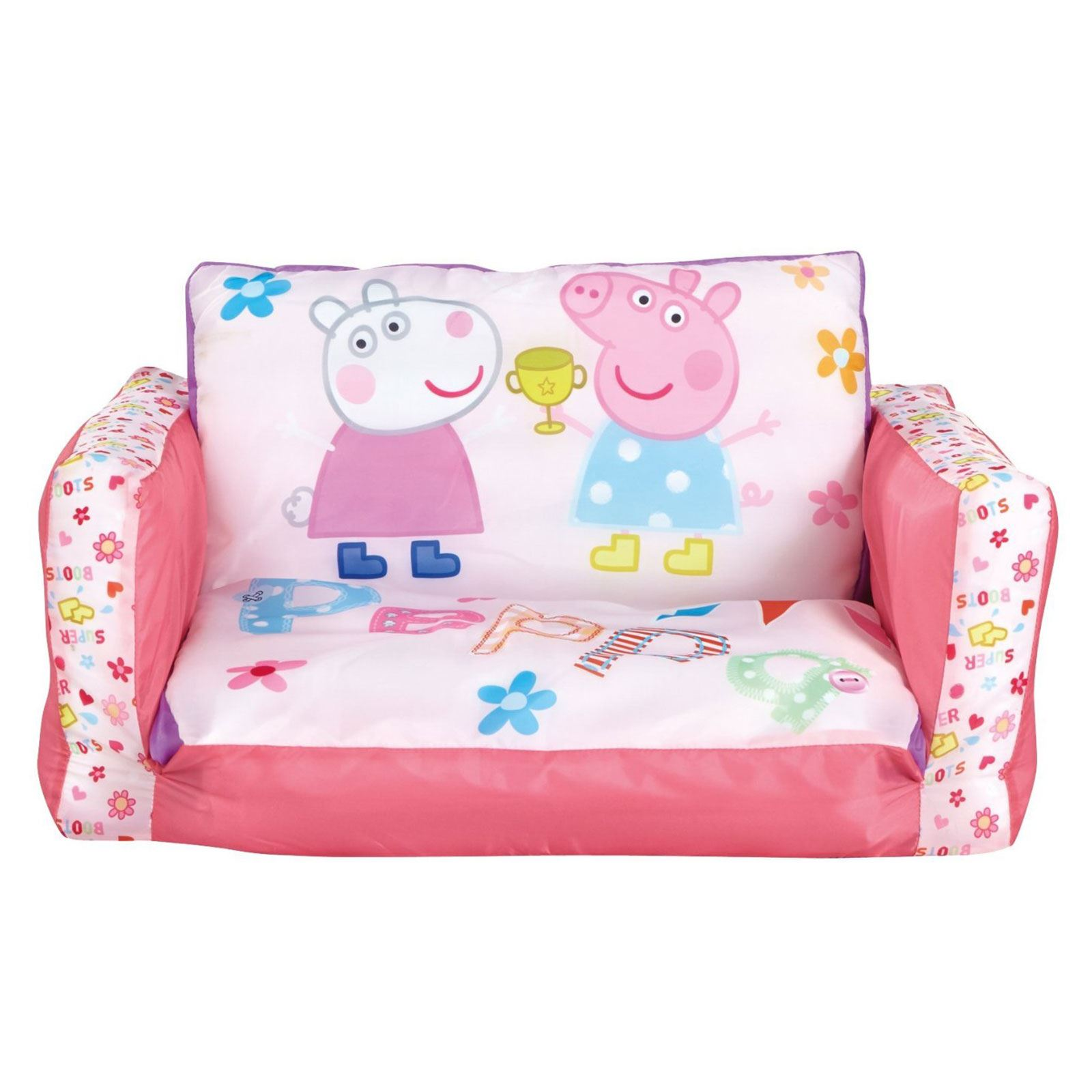 Peppa Pig Flip Out Mini Sofa Inflatable Kids Girls New 100 Official 757538994973 Ebay