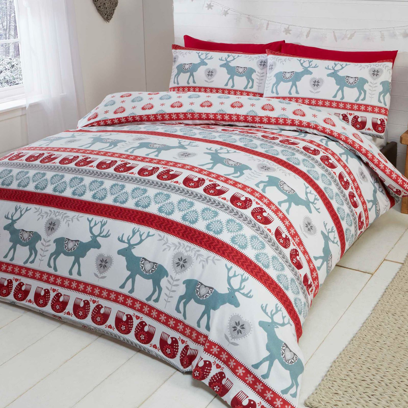 Christmas Festive Duvet Cover Sets Bedding Adults
