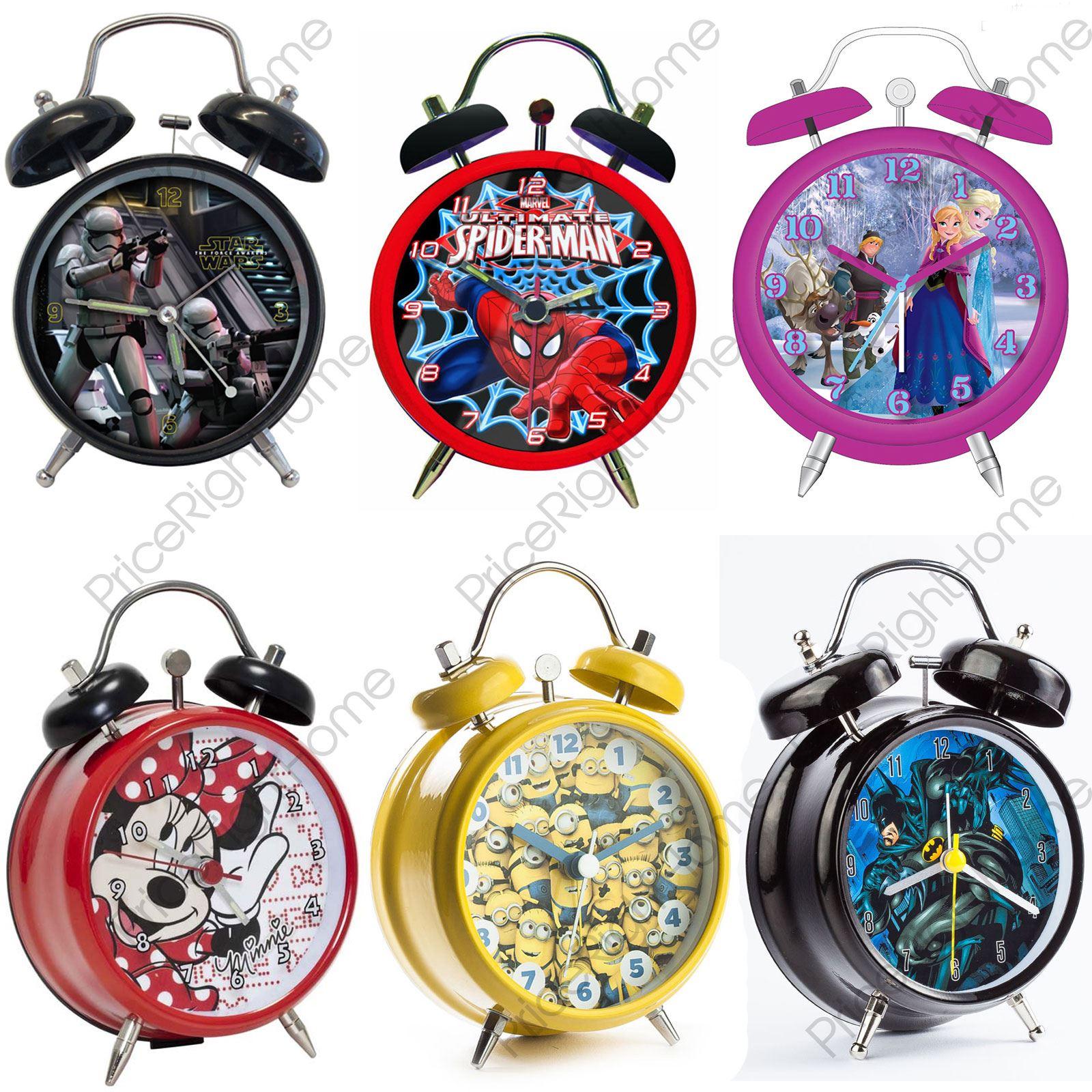 Character Mini Twin Bell Alarm Clock