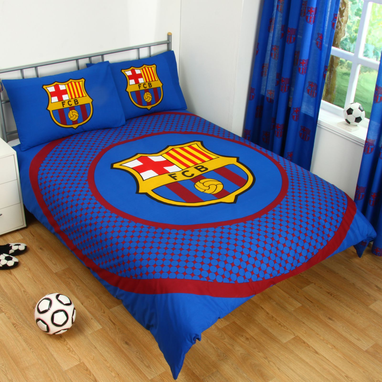 Barcelona Bedding Bedroom Accessories Boys Football