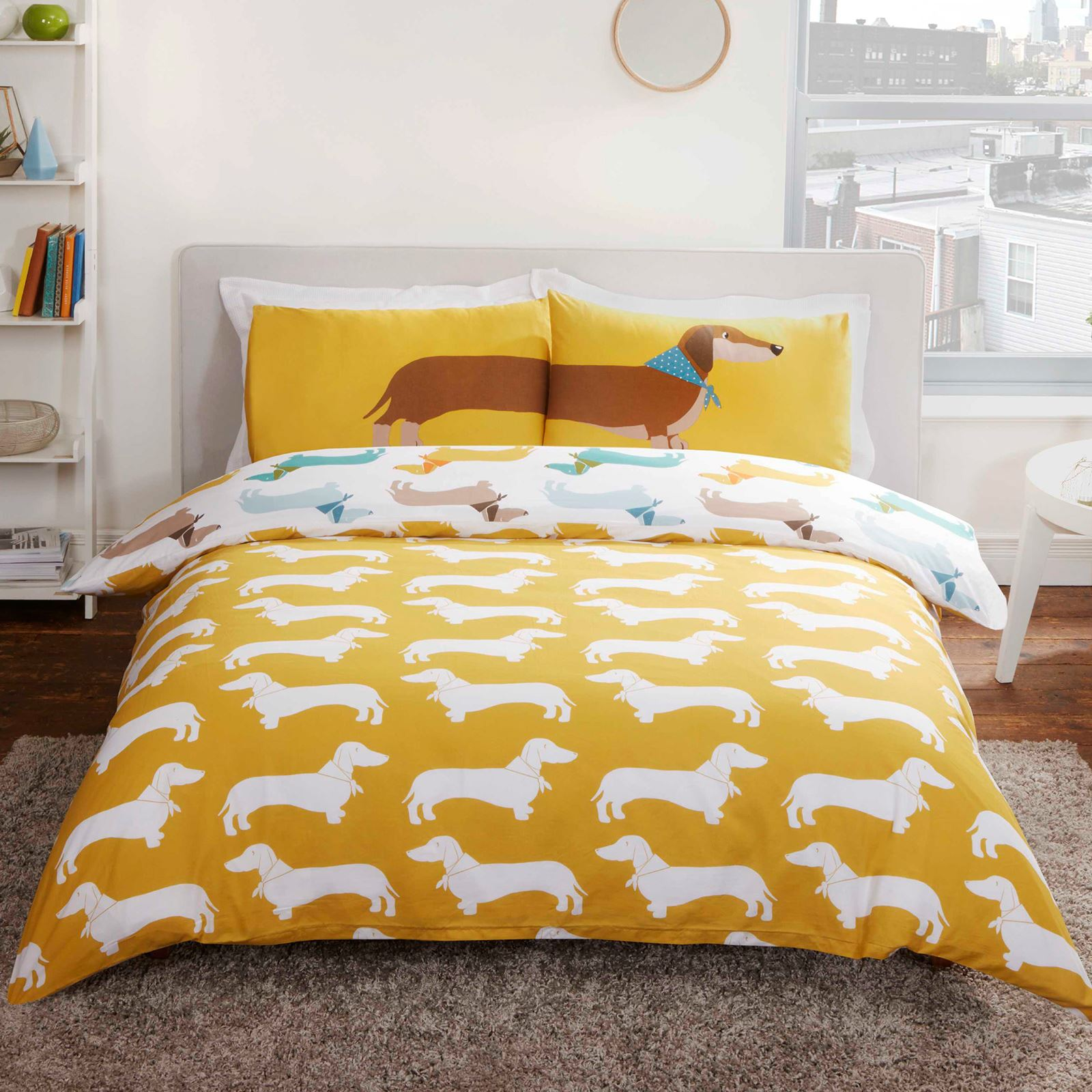 Sausage Dog Duvet Cover Set Bedding Kids Adults
