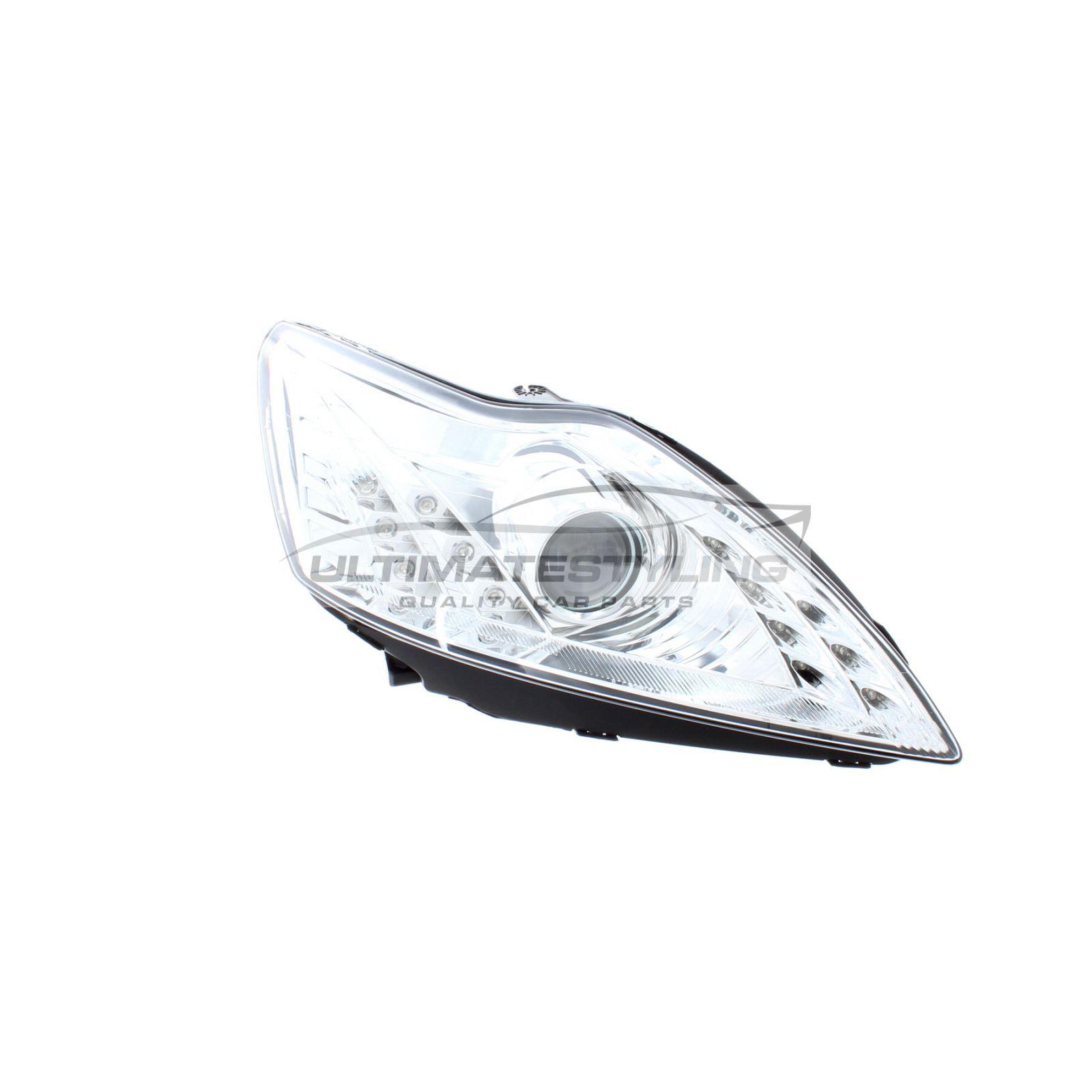 Ford Focus Mk2 Chrome Drl Devil Eye Head Light Lamp Pair Left Amp Right