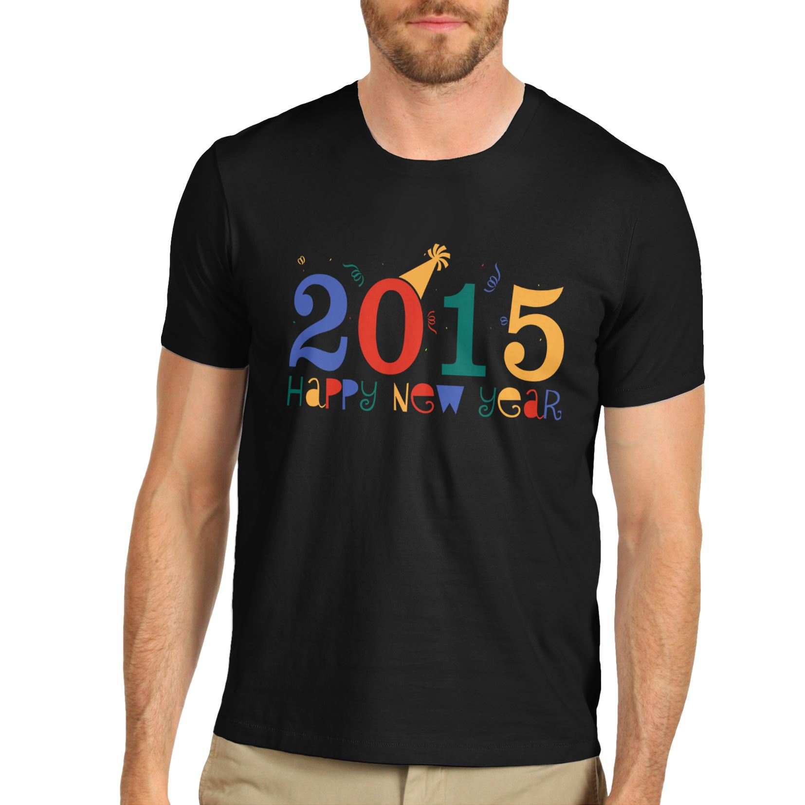 Men s 2015 Happy New Year Party Crewneck T Shirt   eBay Men 039 s 2015 Happy New Year Party
