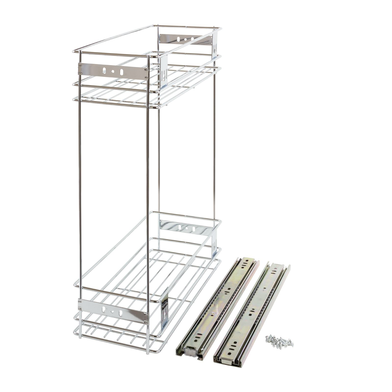 200mm Pull Out Wire Basket Kitchen Larder Base Unit