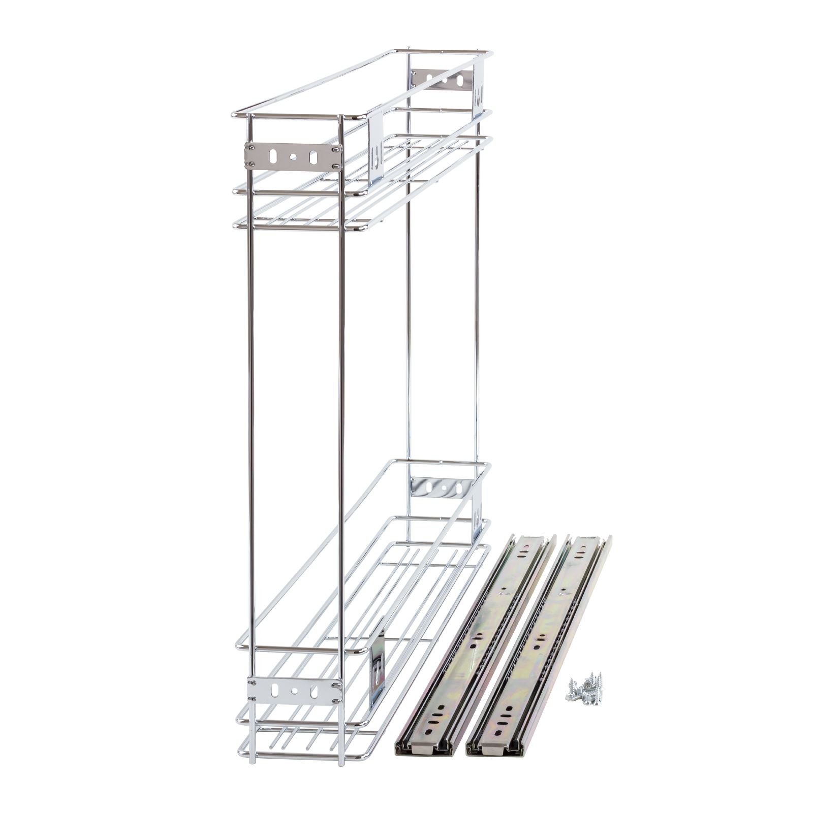 150mm Pull Out Wire Basket Kitchen Larder Base Unit