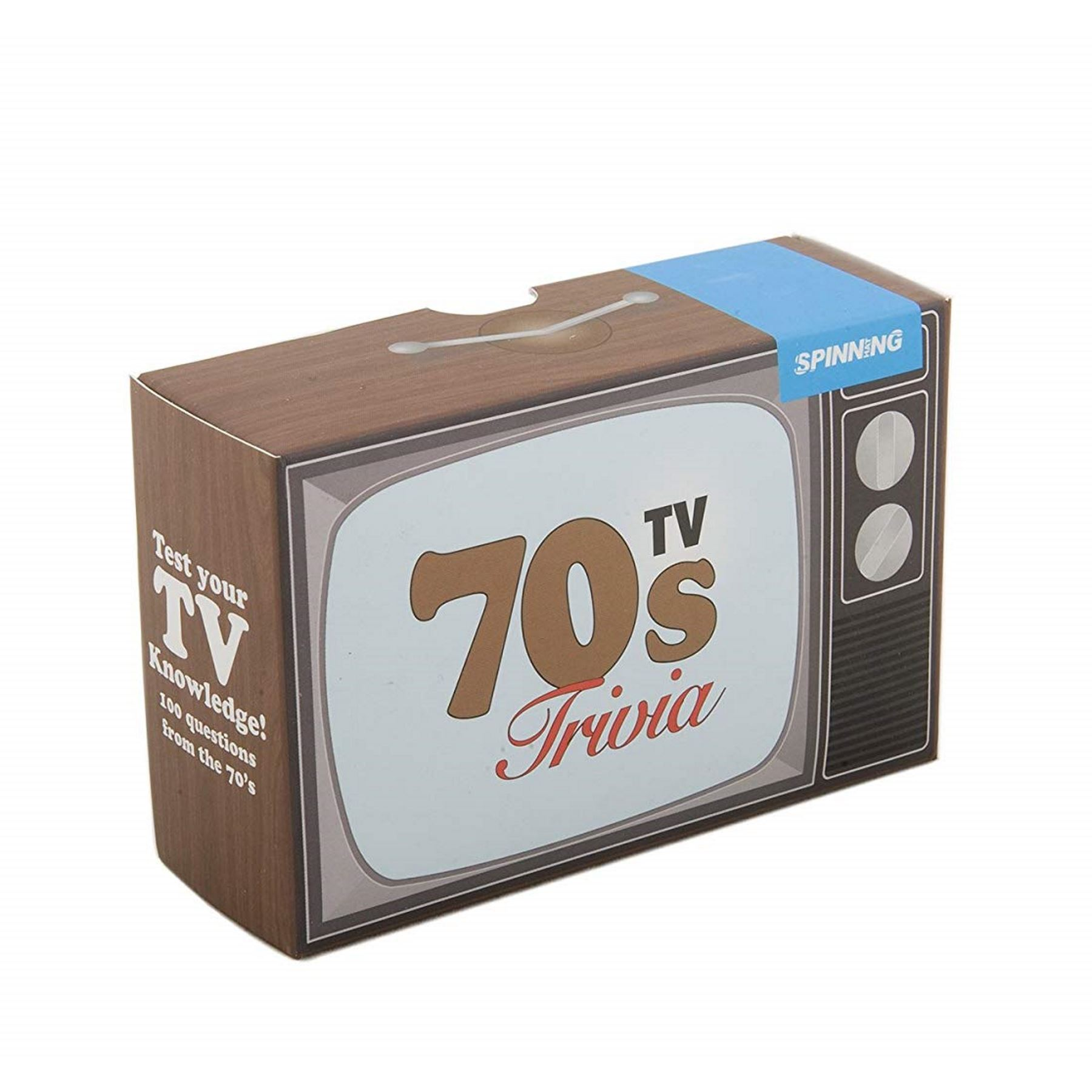70s Tv Trivia Quiz Vintage 100 Questions Cards Retro Shows Game Stocking Filler