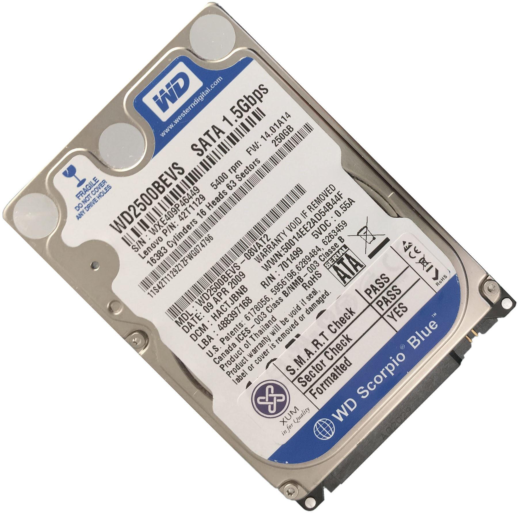 25 5400RPM SATA I 15Gbs 8MB Cache Internal Hard Drive