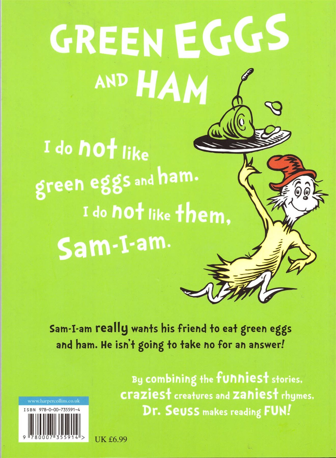 Green Eggs Amp Ham By Dr Seuss Paperback Picture