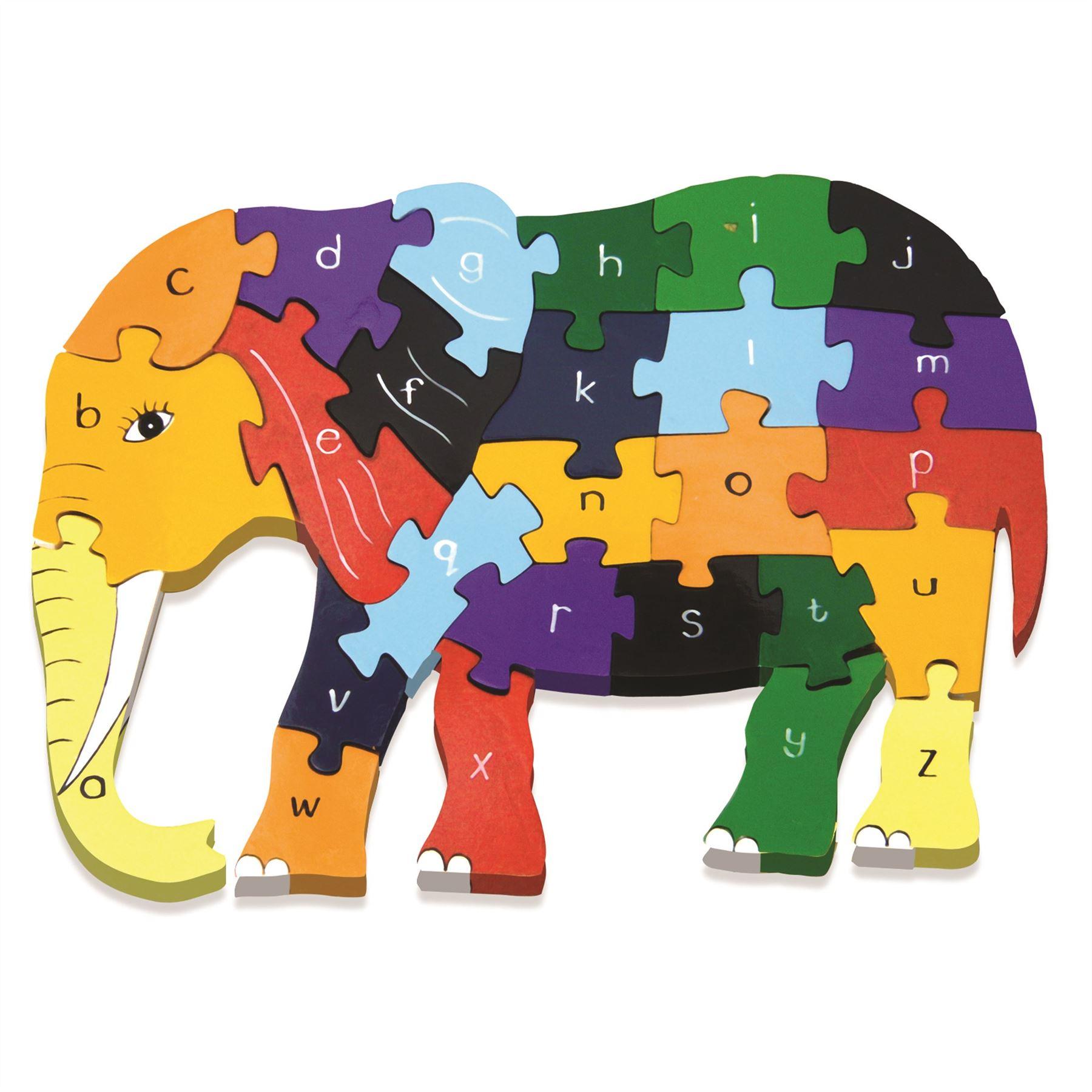 Alphabet Jigsaw Wooden Animal Puzzle In Elephant Giraffe Horse Dog Cat Or Turtle
